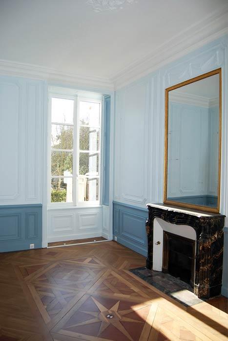 rénovation d'un appartement - parquet ouvragé - Nantes 44