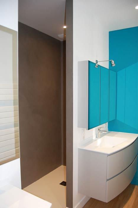 rénovation d'un appartement - meuble sur mesure er douche en résine - Nantes 44