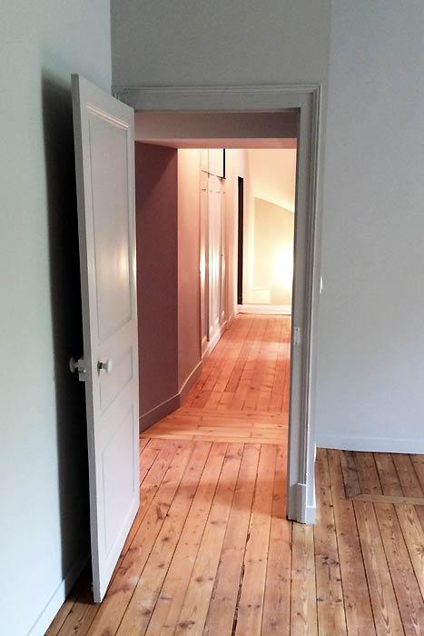 Rénovation d'une maison - Chambre & couloir - La Roche-sur-Yon