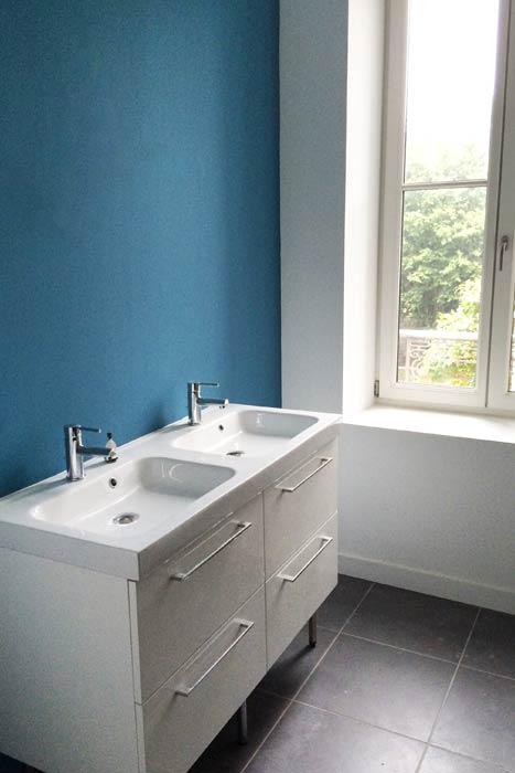 Rénovation d'une maison - Salle d'eau - double vasque - La Roche-sur-Yon