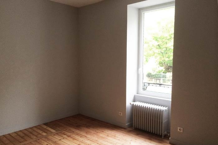 Rénovation d'une maison - Chambre avec parquet - La Roche-sur-Yon