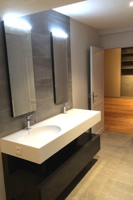 Rénovation - Meuble de salle d'eau - Beaupréau 49