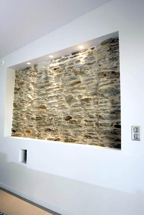 Détail mural pierres apparentes - Rezé 44