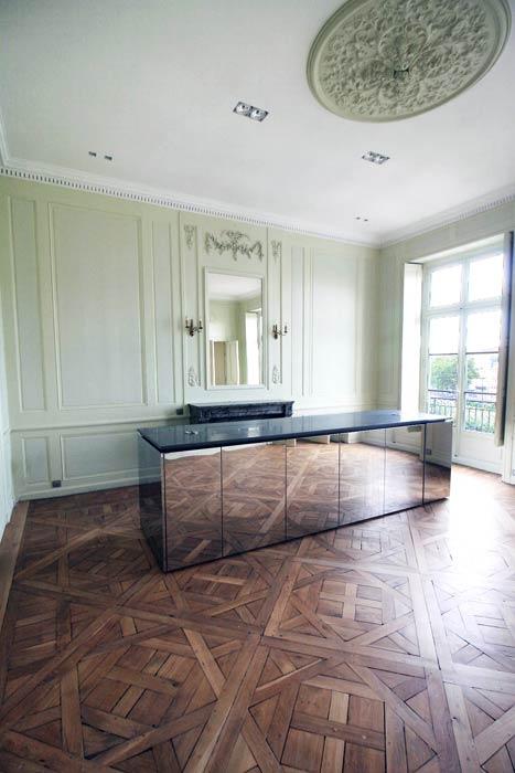 Îlot de cuisine dans séjour - miroir - Nantes 44