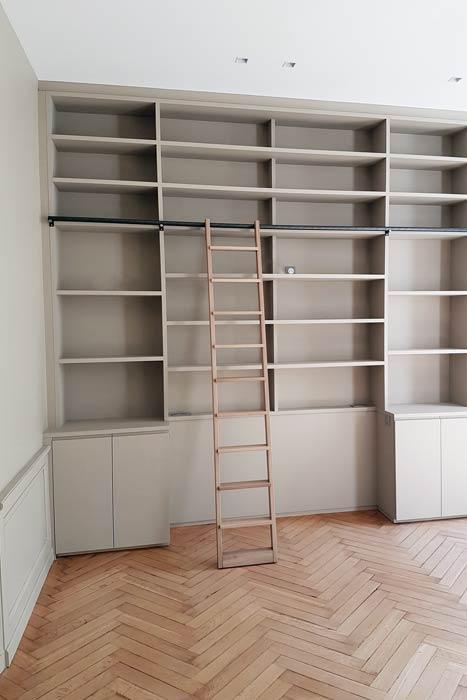 Bibliothèque sur mesure du bureau - Nantes 44