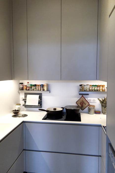 restauration d'un appartement - cuisine aménagée fonctionnelle - Nantes 44