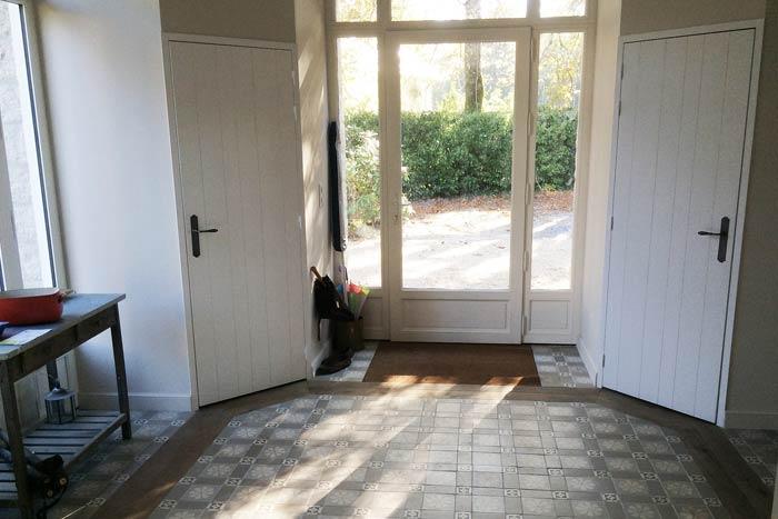 Extension : entrée avec carreaux de ciment - Guérande 44