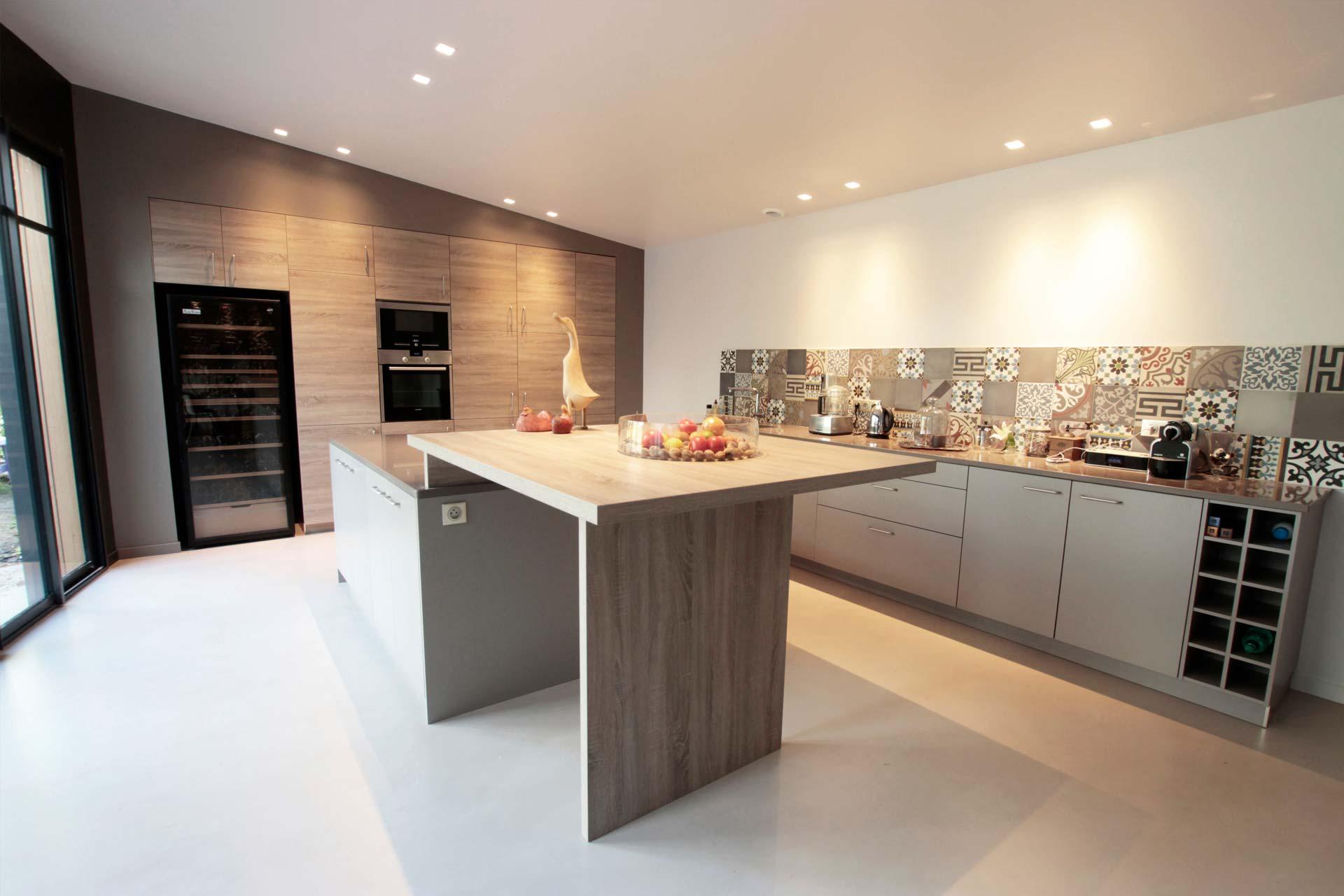 Extension bois et r novation d un espace de vie fran ois for Espace de vie construction