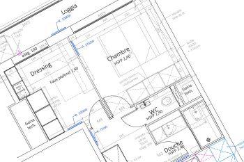 Plan d'exécution architecte d'intérieur - Rénovation d'un appartement