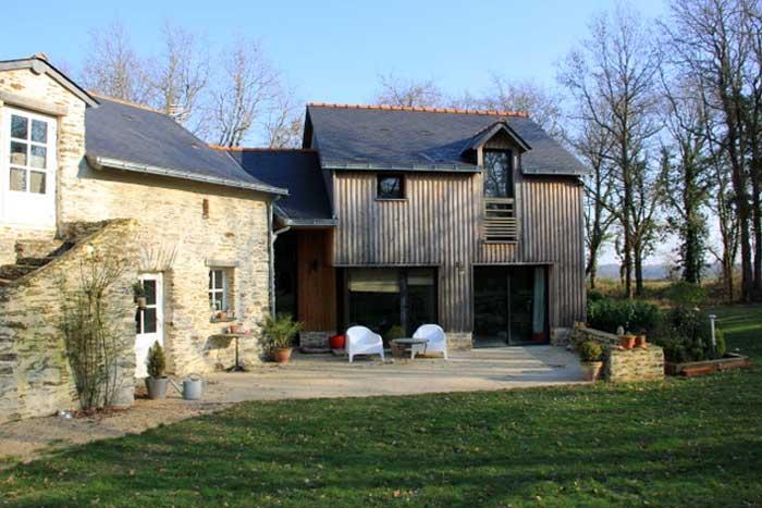 Extension en bardage bois - Nord de Nantes