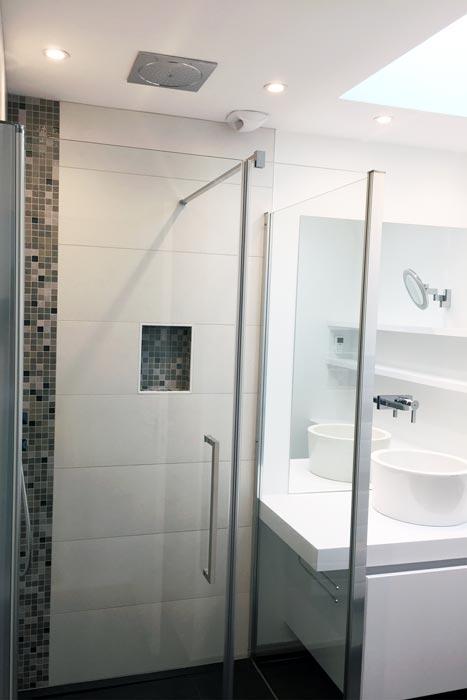 Salle d'eau rénovée - Appartement La Baule - Architecture intérieure