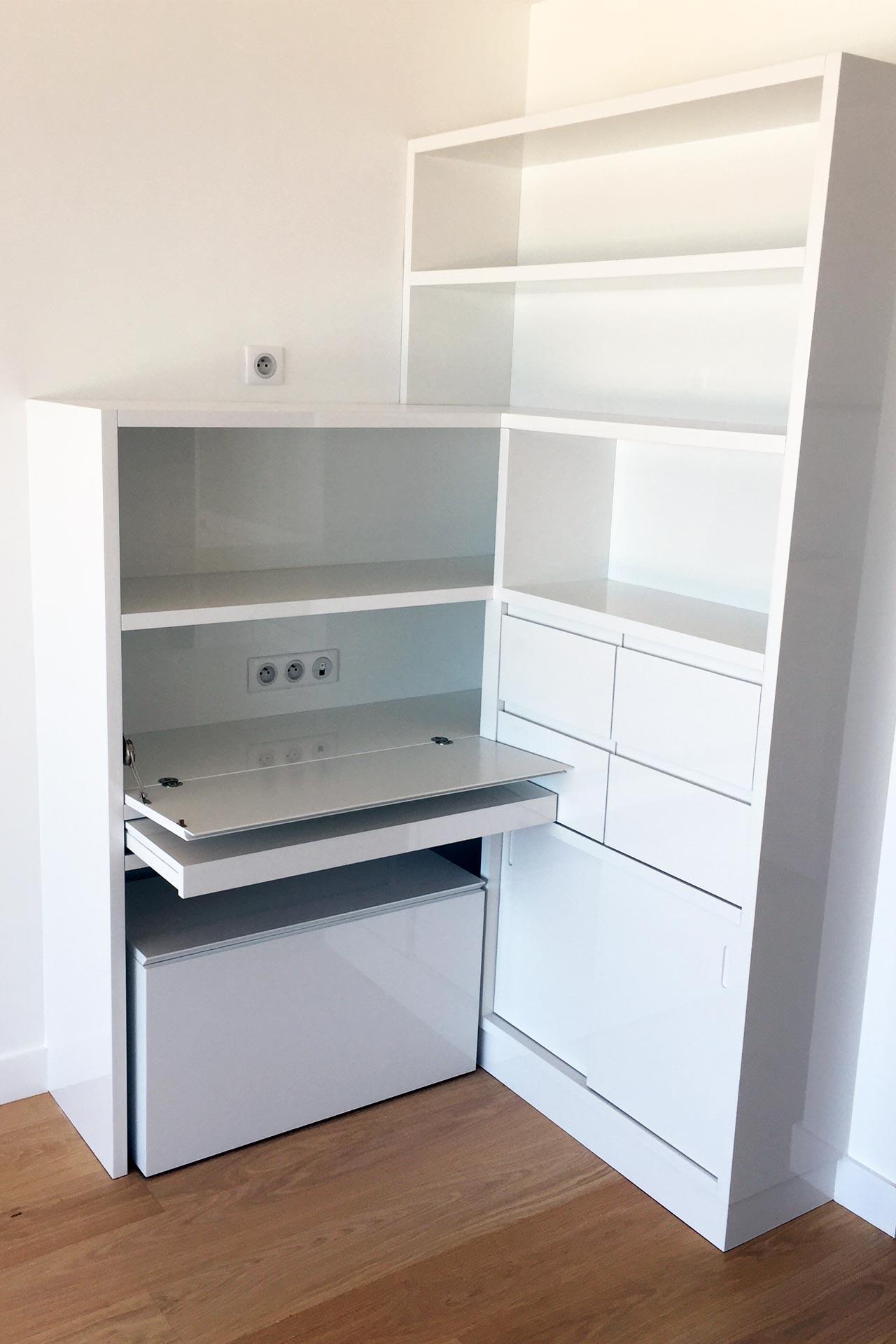 Bureau sur mesure - Transformation d'un appartement Architecture d'intérieur