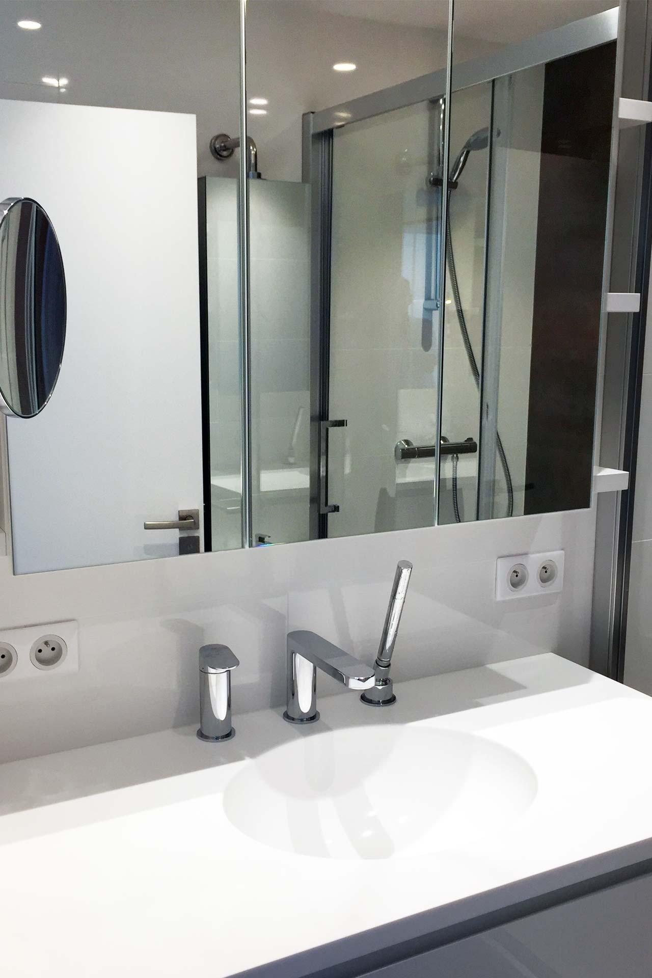 Salle de bain - Transformation d'un appartement Architecture d'intérieur
