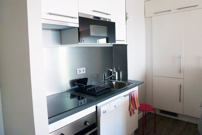aménagement coin cuisine appartement La Baule