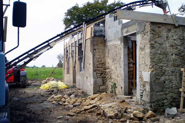 Chantier en cours - Réhabilitation et extension d'une maison
