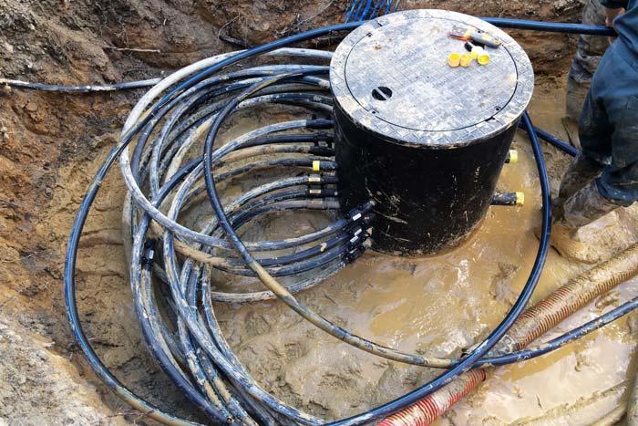 Collecteur géothermique - Reprise d'une installation géothermique