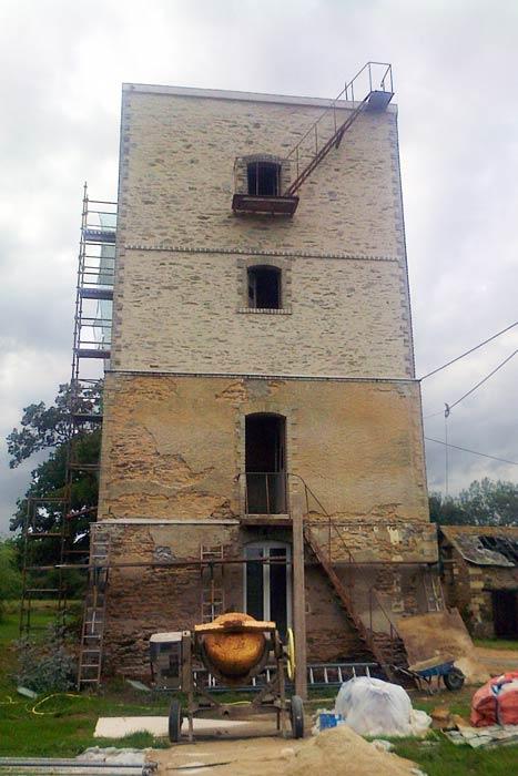 Chantier en cours - Rénovation d'un château d'eau