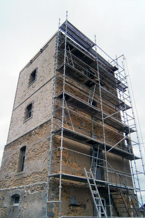Échafaudage - Rénovation d'un château d'eau