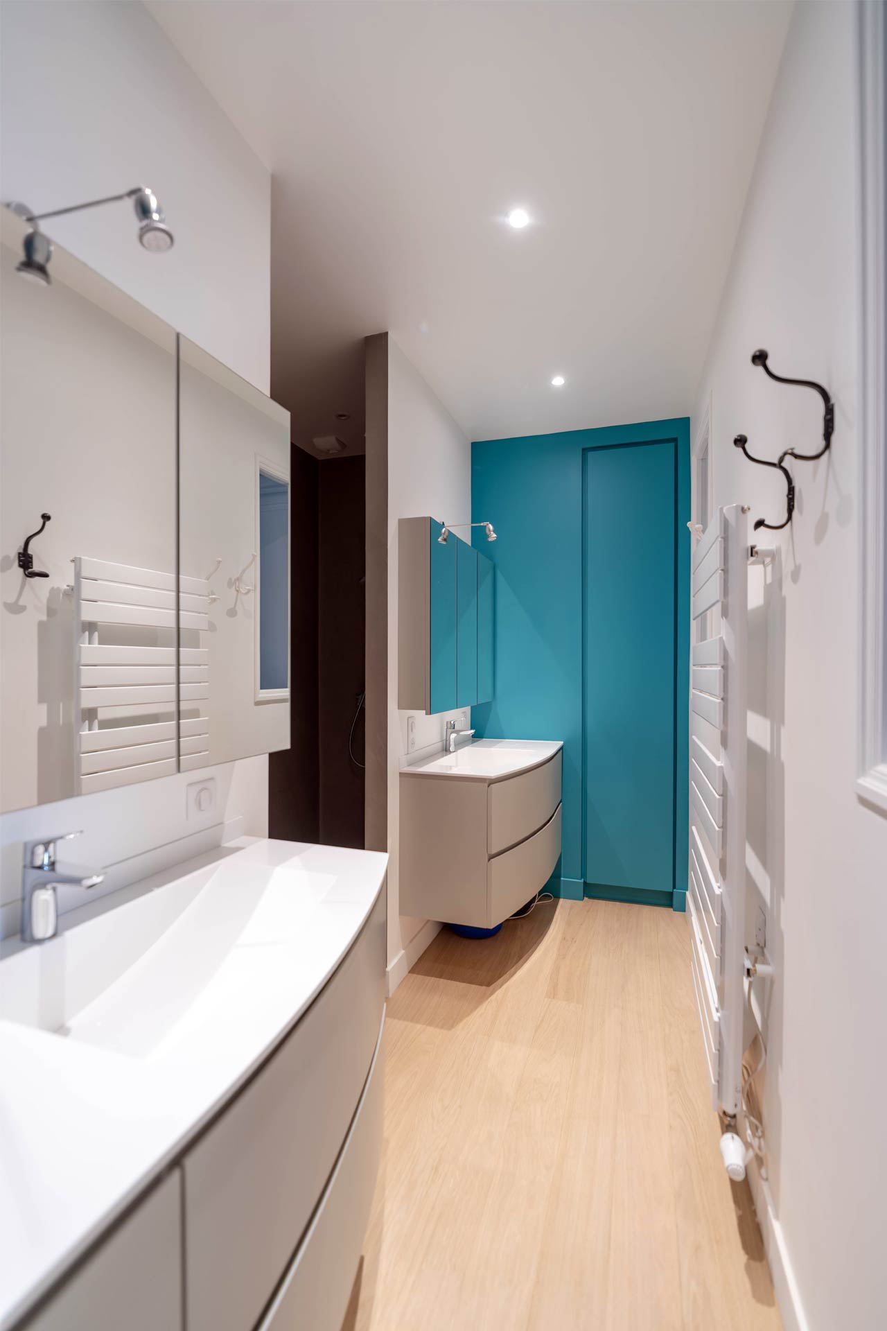 Salle d'eau - meubles sur-mesure - Nantes 44 - © Germain Durand