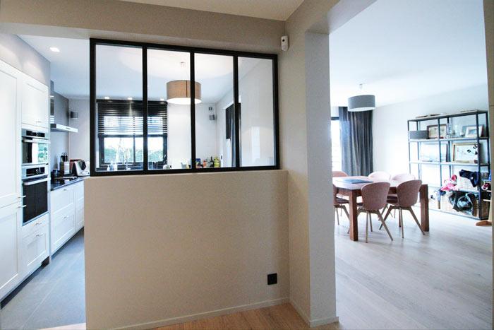Verrière cuisine maison - rénovation - Vertou 44