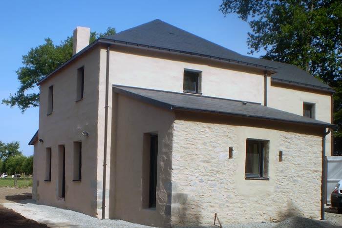 Façade extérieure - Réhabilitation et extension d'une maison