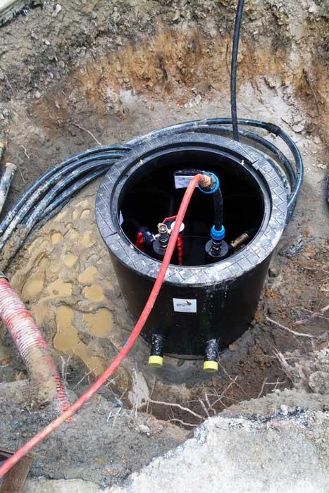 Collecteur géothermique - Reprise d'une installation