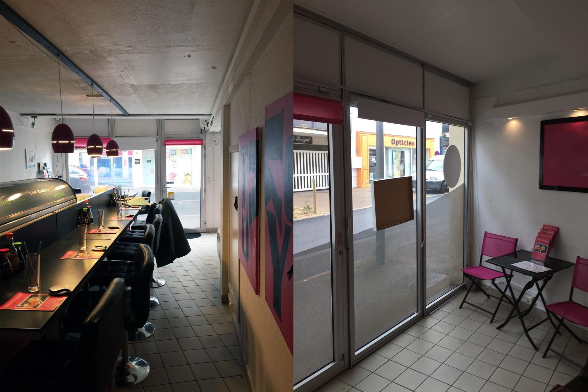 Avant rénovation local restaurant 44