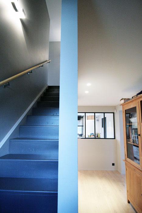 entrée escalier maison - redistribution - Vertou 44