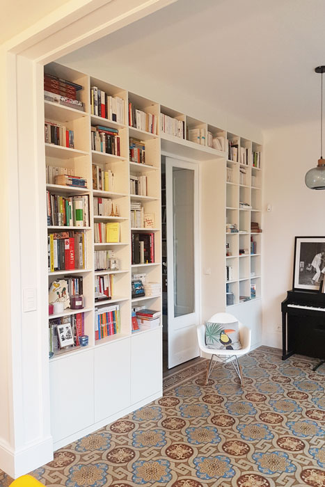 Bibliothèque rénovation - Rénovation totale maison Nantes