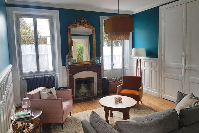 cheminée et boiseries - Rénovation totale maison Nantes