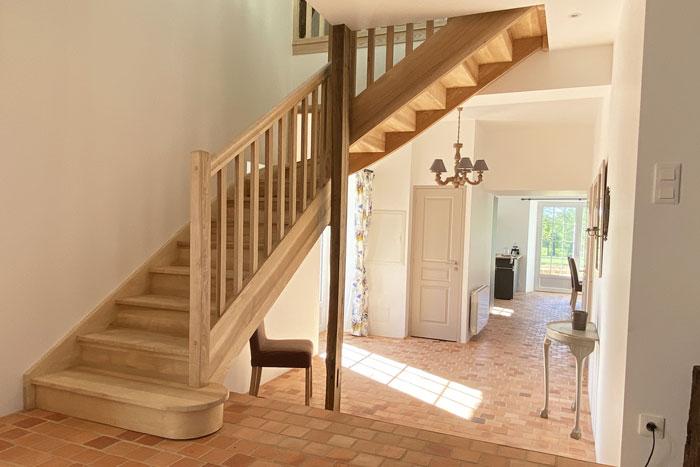 Escalier sur-mesure - Rénovation longère en gîte 35