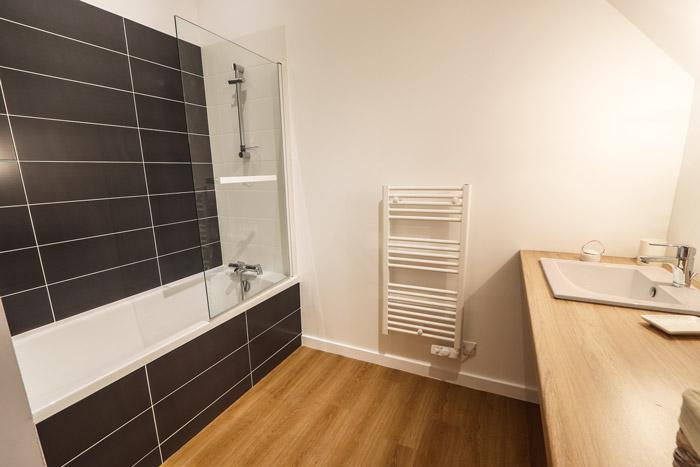 Salle de bain - Rénovation longère en gîte 35
