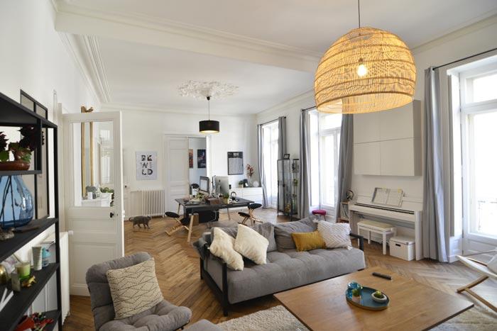 Double salon rénovation - Nantes