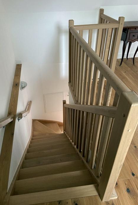 Escalier chêne - maitre d'œuvre 44